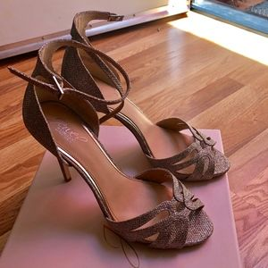 Badgley Mischka Gold High Heels